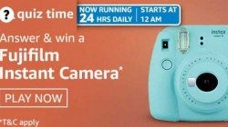 Want To Win Fujifilm Instant Camera? Check Out Amazon Quiz Contest Answers For May 4, 2021