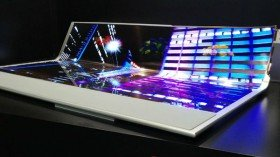LG unveils a 77-inch rollable OLED display panel