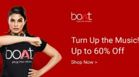 UPTO 60% off on bOAT Music Accessories: Headphones, Bluetooth Speaker and more