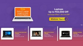Flipkart Big Billion Day Sale: Get offers up to Rs. 50,000 off on popular laptops