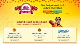 Another Amazon Great Indian Festival sale starts on October 24