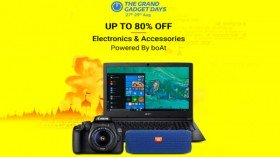 Flipkart Grand Gadget Days – Offers On Laptops, Smart Wearables, Cameras And Much More