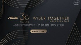 Asus Wiser Together IFA 2019 Live Streaming