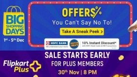 Flipkart Big Shopping Days Sale: Discounts On Mobiles, Electronics, TVs, Home Appliances And More