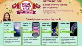 Amazon Great Indian Sale 2020: Up To 40% Off On Premium Smartphones