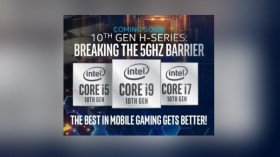 Intel 10th Gen H-Series Comet Lake CPUs Teased At CES 2020