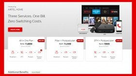 Airtel Launches Home Plans; Offering Three Services Under One Bill