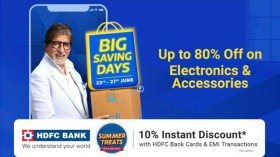 Flipkart Big Saving Days Sale: Up to 80% Off On Electronics And Accessories