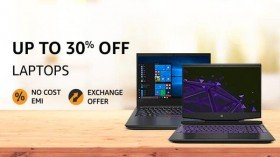 Amazon Sale Offers: Upto 30% Off On Laptops