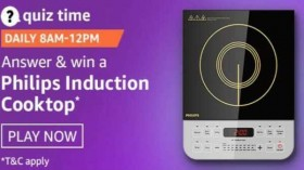 Amazon Quiz Answers For January 12: You Can Win Philips Induction Cooktop