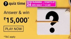 Amazon Quiz Contest Answers For April 9, 2021: Win Rs. 15,000 Amazon Pay Balance