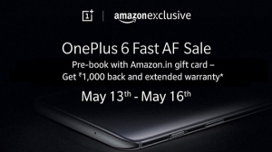 Reserve your OnePlus 6 right now in the first-ever 'Fast AF' Sale on Amazon.in