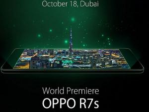 Oppo to Unveil the R7 Series Smartphones at GITEX 2016