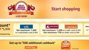 Amazon Great Indian Festival Sale 2020: 'Happiness Upgrade Days' Sale