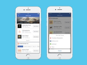Facebook Now Adds Direct Food Ordering Feature