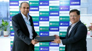 Luminous Partners With Idbi Bank Make Solar Affordable Homes