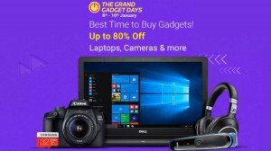 Flipkart The Grand Gadgets Days Sale Jan 8th 10 Get Discounts On Smartphones Camera Laptops And More