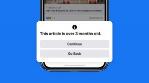 Facebook Notifies Users While Sharing Outdated Covid 19 Articles