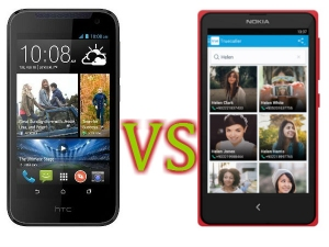 HTC Desire 210 Vs Nokia X: Specs Comparison