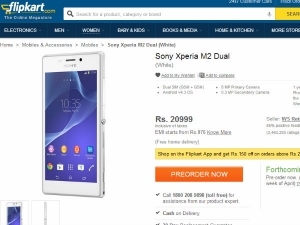 Sony Xperia M2 Dual Now Available for Pre-Order in India At Rs 20,999
