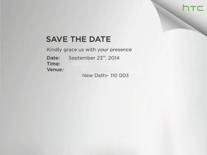 HTC Sends Out Invite for Sept 23 Event in India: Desire 820 Coming?