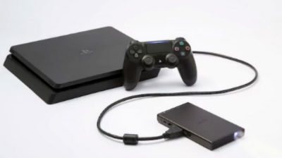 Now connect you gaming console with Sony's portable mobile projector