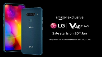LG V40 ThinQ will be available in India from the 19th of January