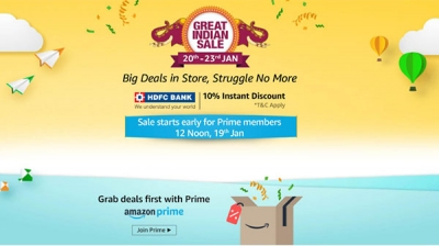Amazon Great Indian Sale starts from January 20: All you need to know