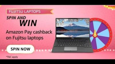 Amazon Fujitsu Laptops Spin and Win Quiz Answers