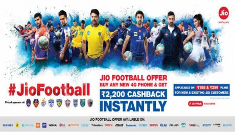 JioFootball offers: Offering Rs 2200 cashback for all 4G devices