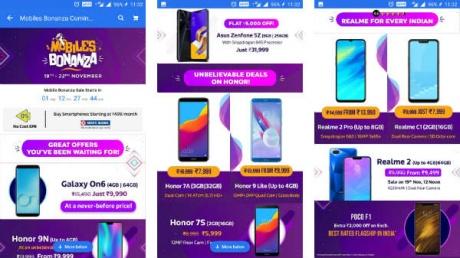 Flipkart Mobile Bonanza Sale: Get Special discounts on smartphones