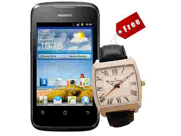 Huawei Ascend Y200 with Free Provogue Watch