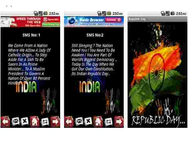 Republic Day-Send SMS to India