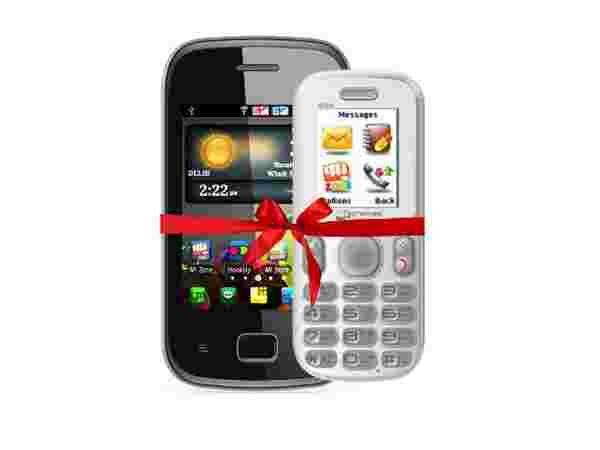 Micromax Smarty A25 Mobile Phone + Micromax X104C Mobile Phone: