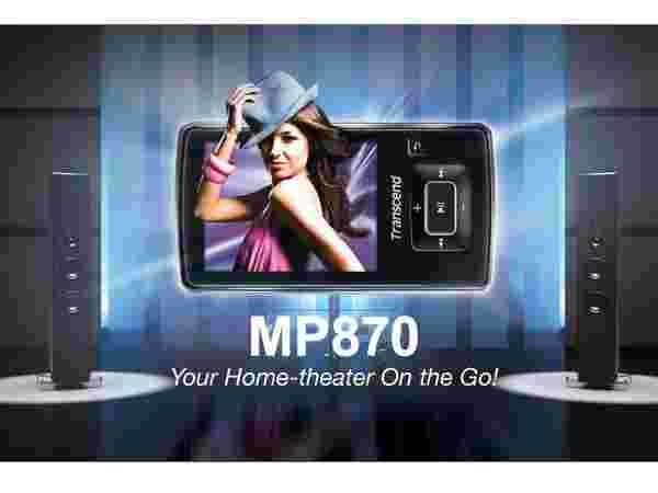 Transcend 4GB MP870 MP3 MP4 FM Player: