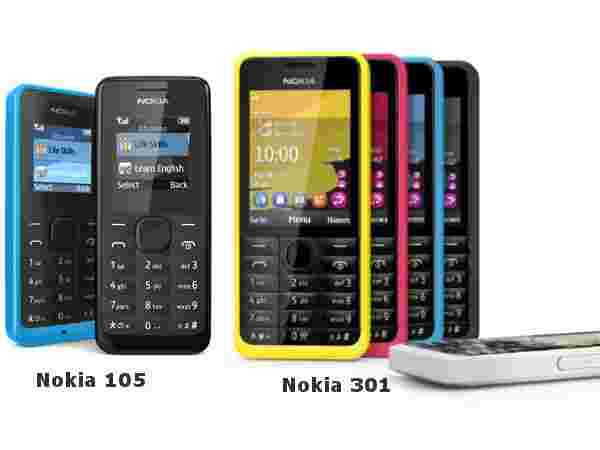 Nokia 301 and 105