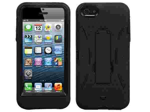 Black Impact Hard Case Cover Hybrid Kickstand Apple iPhone 5 6TH GEN Accessory