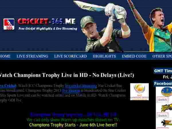 Live Cricket Scores Champions Trophy League Cricket 2013