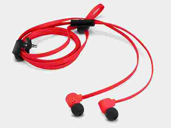 Red Pop Earbuds With MIc