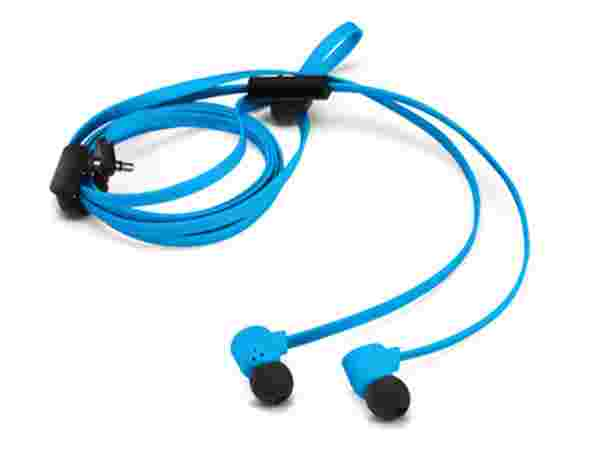 Blue Pop Earbuds With Mic
