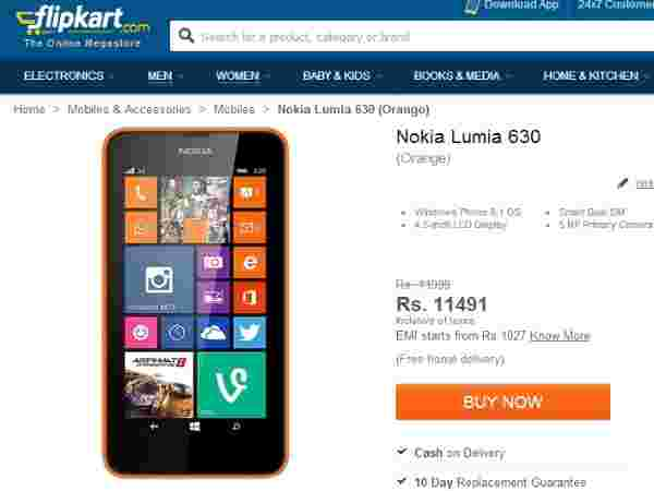 Nokia Lumia 630 Dual Price In India