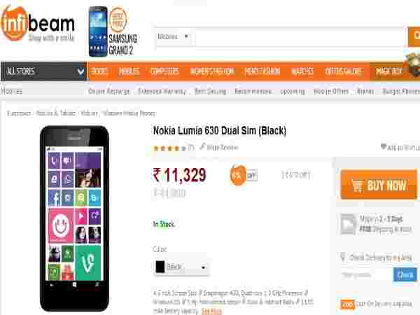 Nokia Lumia 630 Dual Features ANd Best Price In India