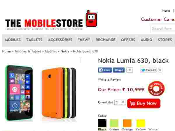 Nokia lumai 630 Dual Price In India