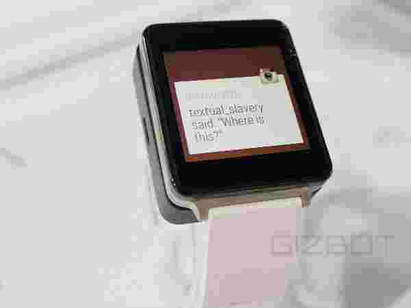 LG G Watch -- Android Wear