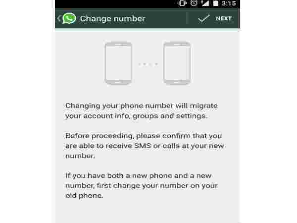 Change your WhatsApp number: