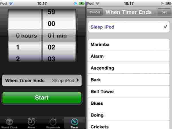 Automatically turn off your music with the timer