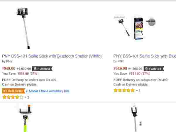 Selfie Stick with Bluetooth Shutter