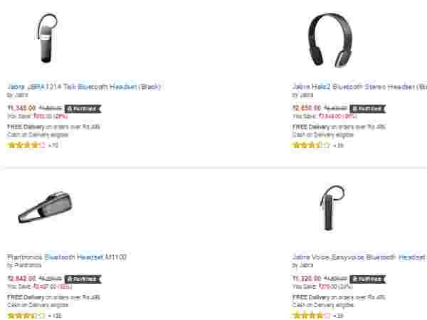 Upto 60% off on Bluetooth headsets