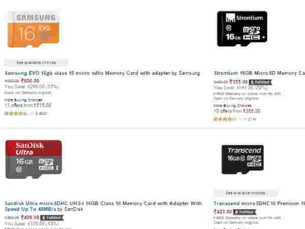 UPTO 50% OFF ON Memory cards