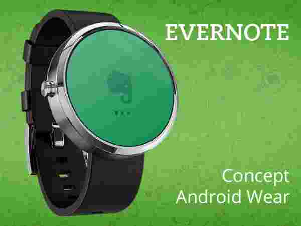 Evernote For Android Wear: